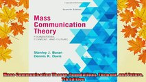 READ book  Mass Communication Theory Foundations Ferment and Future 7th Edition  DOWNLOAD ONLINE