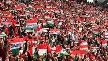 Autriche - Hongrie à Bordeaux : le tifo des Hongrois