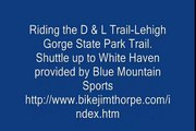 Mountain Bike riding the D & L Trail-Lehigh Gorge State Part Trail Specialized Hardrock 29