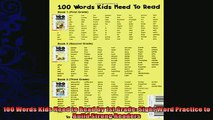 read now  100 Words Kids Need to Read by 1st Grade Sight Word Practice to Build Strong Readers