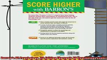 best book  Barrons AP Psychology 7th Edition Barrons AP Psychology Exam