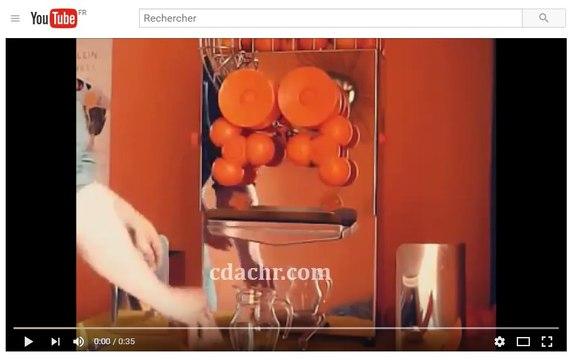 Presse agrumes automatique professionnels - jus d'orange frais pressé (cdachr.com)