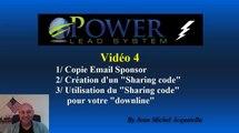 """Power Lead System_Vidéo 4 : Copie email et création d'un """"Sharing code"""""""