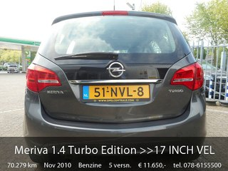 Opel Meriva 14 Turbo Edition 17 Inch Velgenairco Video