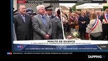 Magnanville – Policier assassinés : François Hollande et Manuel Valls observent une minute de silence émouvante (Vidéo)