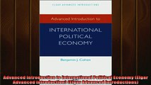 Read here Advanced Introduction to International Political Economy Elgar Advanced Introduction