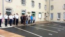 L'hommage des policiers Guérétois à leurs collègues des Yvelines