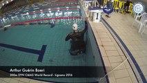 Championnat du monde Apnée - DYN 300m CMAS World Record - Lignano 2016 - Arthur