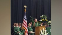 Watch an eighth grader impersonate Trump, Clinton, Obama and Sanders in graduation speech