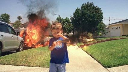 Little Boy Throws Magic Fire Bombs | Van The Man | FXated