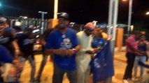 Licey Vs Aguilas 24/11/2013 Asi Celebro Garra Azul Fuera Del estadio