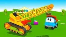 Leo the Truck -Leo's House SMASH UP - Crane Construction - Toy Trucks Cartoons for Kids Tutitu style