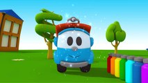 Leo the Truck - Leo's FIRE TRUCK - PAINTING Games & Construction Puzzles!
