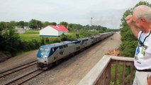 Amtrak Southwest Chief No. 4 departing La Plata, Missouri, Amtrak Station, May 26, 2014.MVI 4865