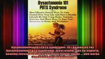 READ book  Dysautonomia 101 POTS Syndrome 101 Remedies For Dysautonomia POTS Syndrome most useful Full EBook