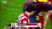 Diego Godín Horror Foul on Dani Alves ~ Barcelona v Atletico Madrid ~ 28-08-2013