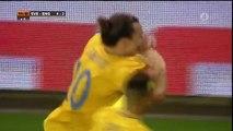 Football Star: Zlatan Ibrahimovic - Amazing Bicycle (Sweden 4-2 England)