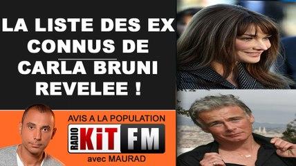 L'INCROYABLE LISTE DES STARS ET AUSSI EX DE CARLA BRUNI REVELEE