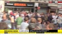 Charge des CRS contre les Hooligans Russes et Anglais à Lille - Euro 2016