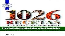Download 1026 recetas de cocina internacional (Spanish Edition)  PDF Online