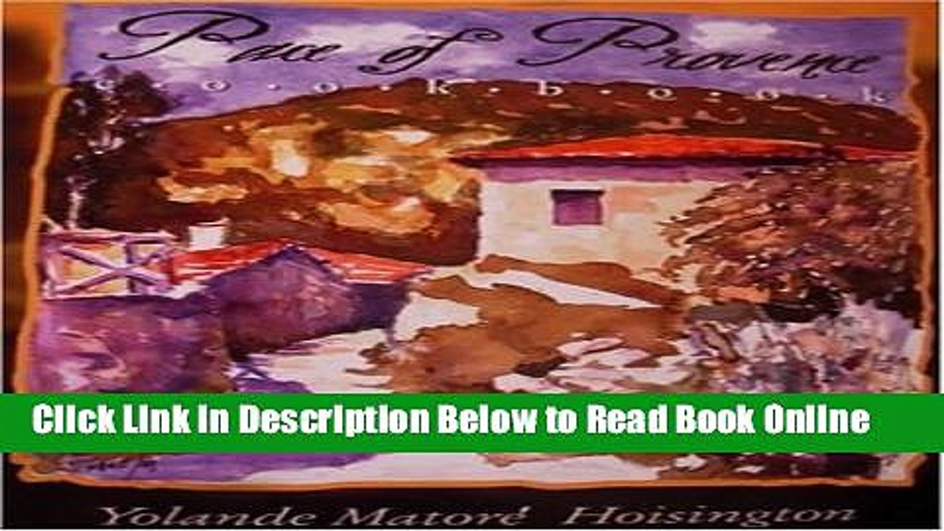Read Pace of Provence  Ebook Free