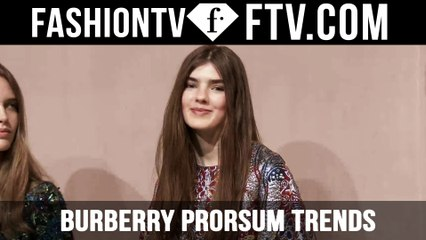 London Fashion Week Fall/Winter 2016-17 - Burberry Prorsum Trends   FTV.com