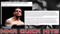 Frank Mir on Brock Lesnar vs Mark Hunt