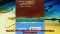 For you  European Union A Very Short Introduction Very Short Introductions