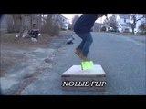 SOME SKATEBOARDING TRICKS ON A RAMP