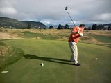 Norm's Tee shot on #10 at The Kinloch Golf Club, Taupo
