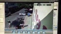 Câmera flagra mulher arranhando carro de dentista na Serra