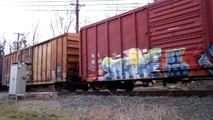 3/27/13 Part 3 - CA-20 Norfolk Southern 3026 & 5286 on Conrail Shared Lines South Jersey, Moorestown
