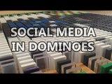 Guy Creates Social Media Logos Using 17,000 Dominoes