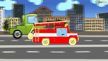 ✔  Dessin animé voiture. Monster Truck, Voiture de police. Tiki Taki  Dessins Animés ✔
