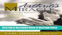 Download Arthritis Miracle: How Ginger Extract Can Reduce Inflammatory Joint Pain  Ebook Free