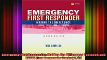 DOWNLOAD FREE Ebooks  Emergency First Responder Making the Difference Textbook and RAPID First Responder Full Free