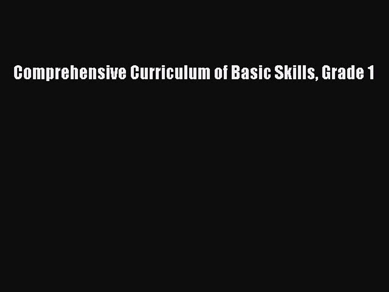 Download Comprehensive Curriculum of Basic Skills Grade 1 PDF Free