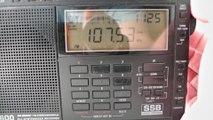 Dutch German FM Radio Tropo band scan station picked in Clacton Essex on 107.5 Scheldemond FM