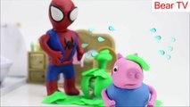 Peppa Pig George Crying! Peppa Pig Stop Motion Play Doh! Peppa Pig George Crying Spiderbaby Bath