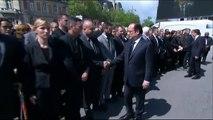 Magnanville - Un policier refuse de serrer la main de François Hollande