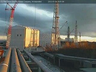 2012.01.06 16:00-17:00 / ふくいちライブカメラ (Live Fukushima Nuclear Plant Cam)