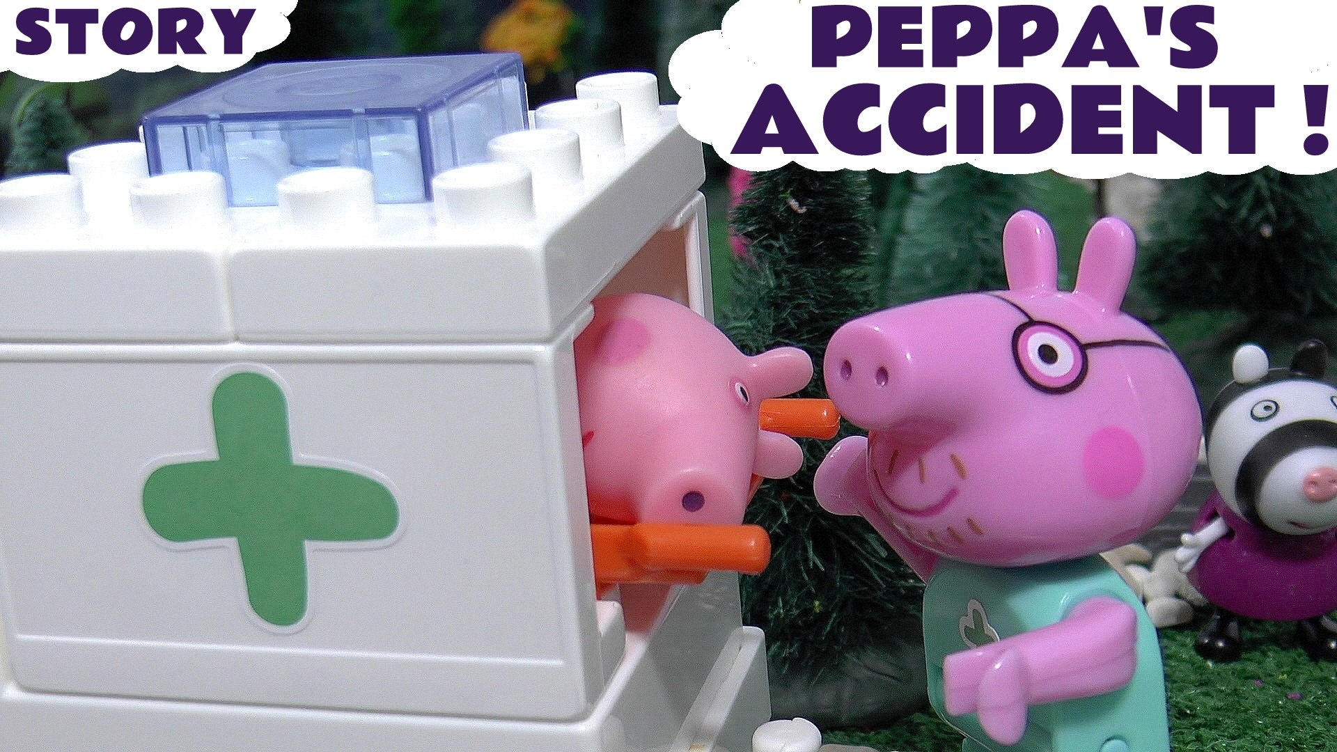 PEPPA'S ACCIDENT --- Peppa Pig goes to Hospital after an Accident! This toy story is a Hospital