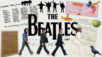Beatles Handwritten Lyrics