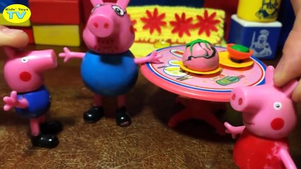 Peppa Pig Play Doh Stop Motion George Pig crying got sick en espanol New compilation Georg