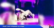 El cantante Meat Loaf se desmayó en pleno concierto