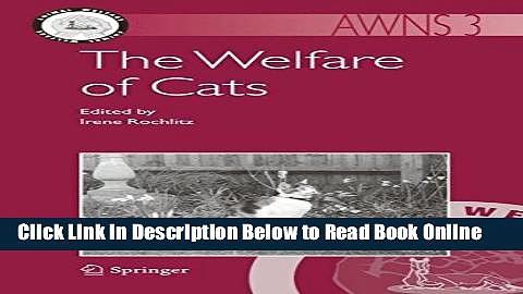 Read The Welfare of Cats (Animal Welfare)  Ebook Free