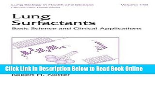 Read Lung Surfactants: Basic Science and Clinical Applications (Lung Biology in Health and