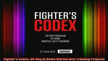 Download Fighter's Codex: 30-Day At Home Martial Arts