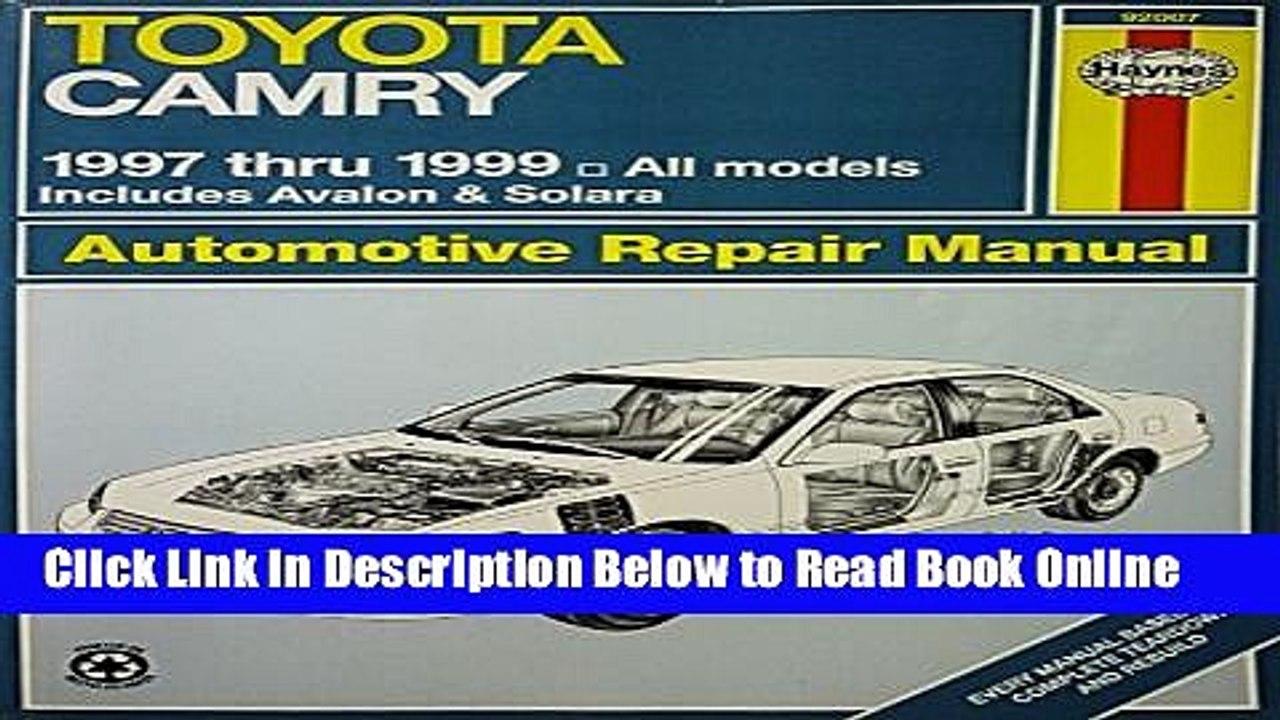 1999 Toyota Solara Repair Manual