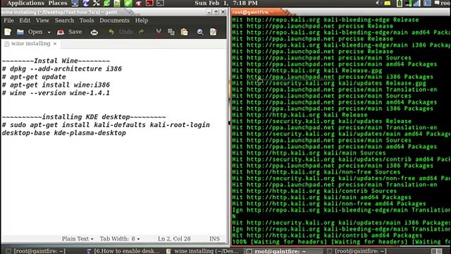 14.How to install the wine software to run the windows software(.exe) in kali li